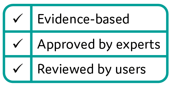 Our information is evidence-based, approved by experts and reviewed by users.