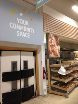 cimmunity space in Tesco Wigan, venue for the meeting