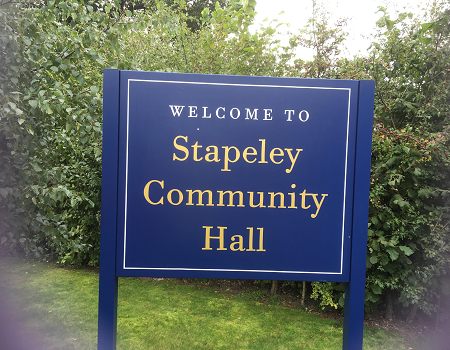 Stapeley Community hall, venue for the Nantwich meeting