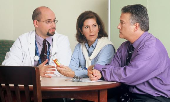 Talking about diagnosis (free stock image)