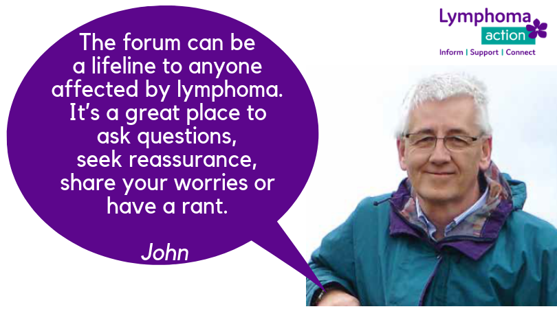 The forum can be a lifeline to anyone affected by lymphoma