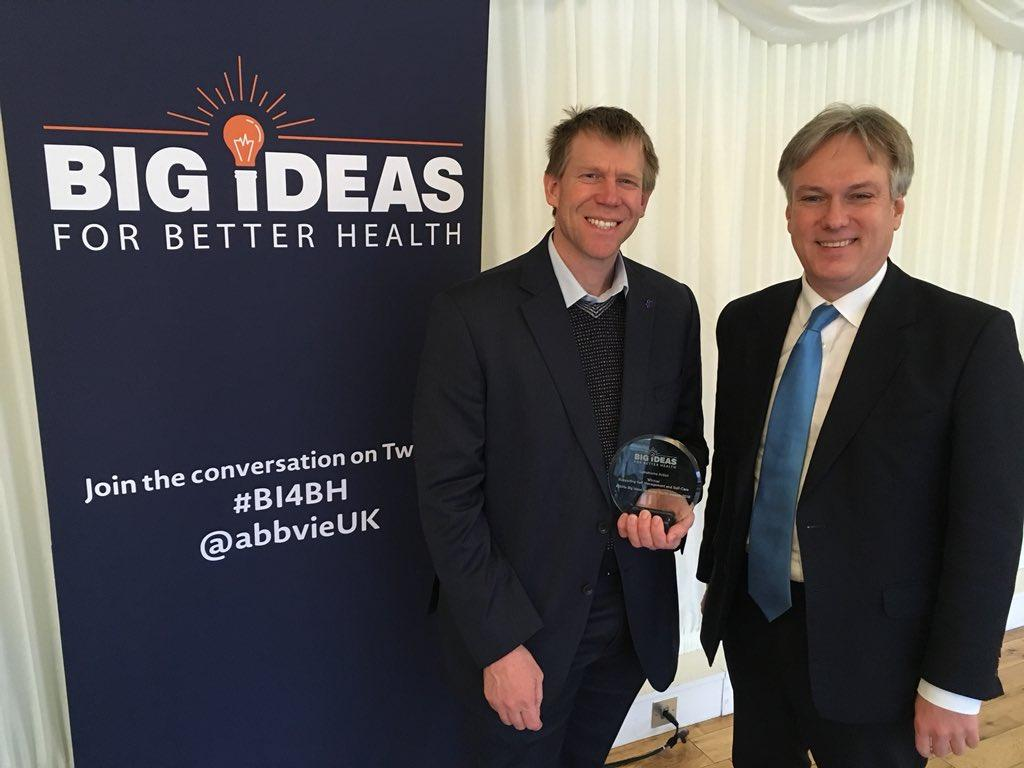 Stephen Scowcroft & MP Henry Smith at the AbbVie Big Ideas for Better Health Awards