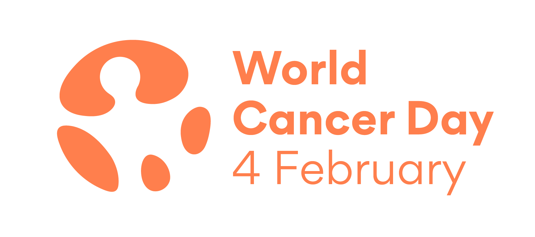 World Cancer Day orange logo