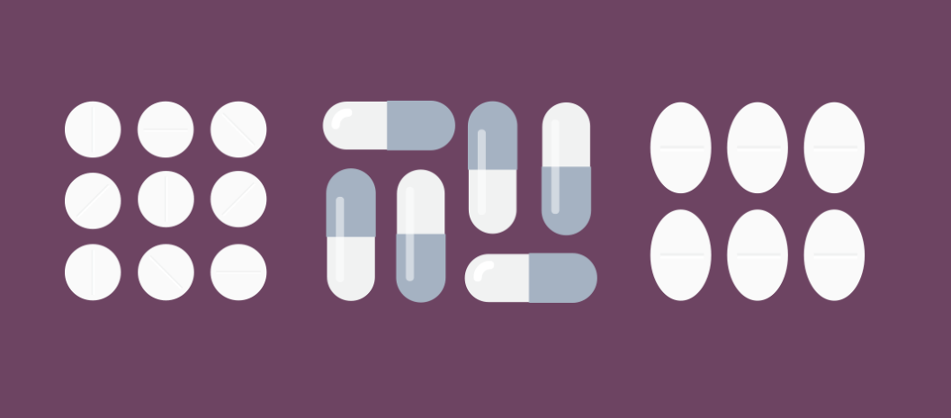 graphics of medicines on plain background from Scottish Medicines Consortium
