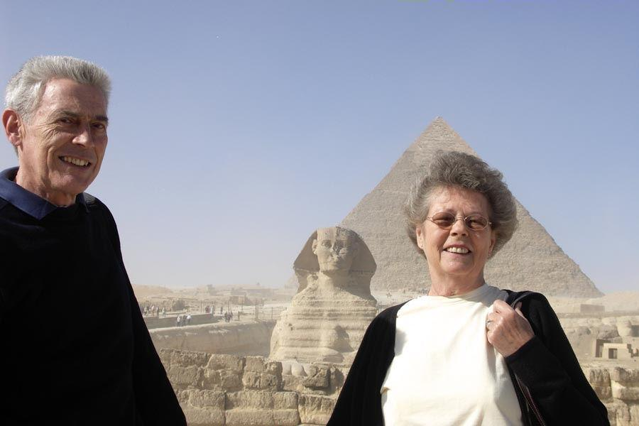 Tony with his wife June in Egypt