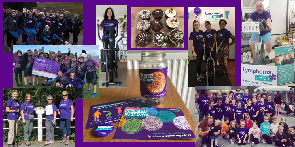 Collage of fundraising for 27 in 27