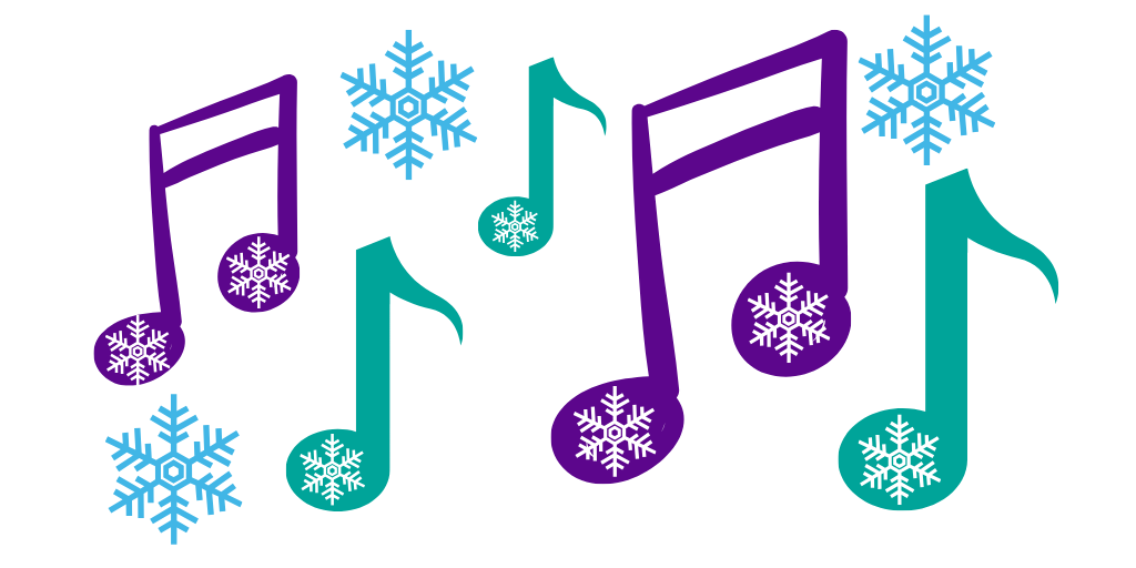 Festive musical notes