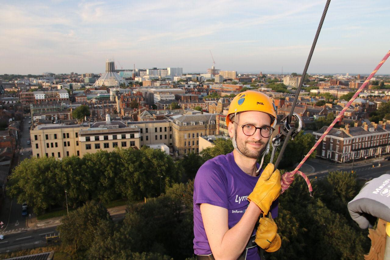 Adam F doing abseil