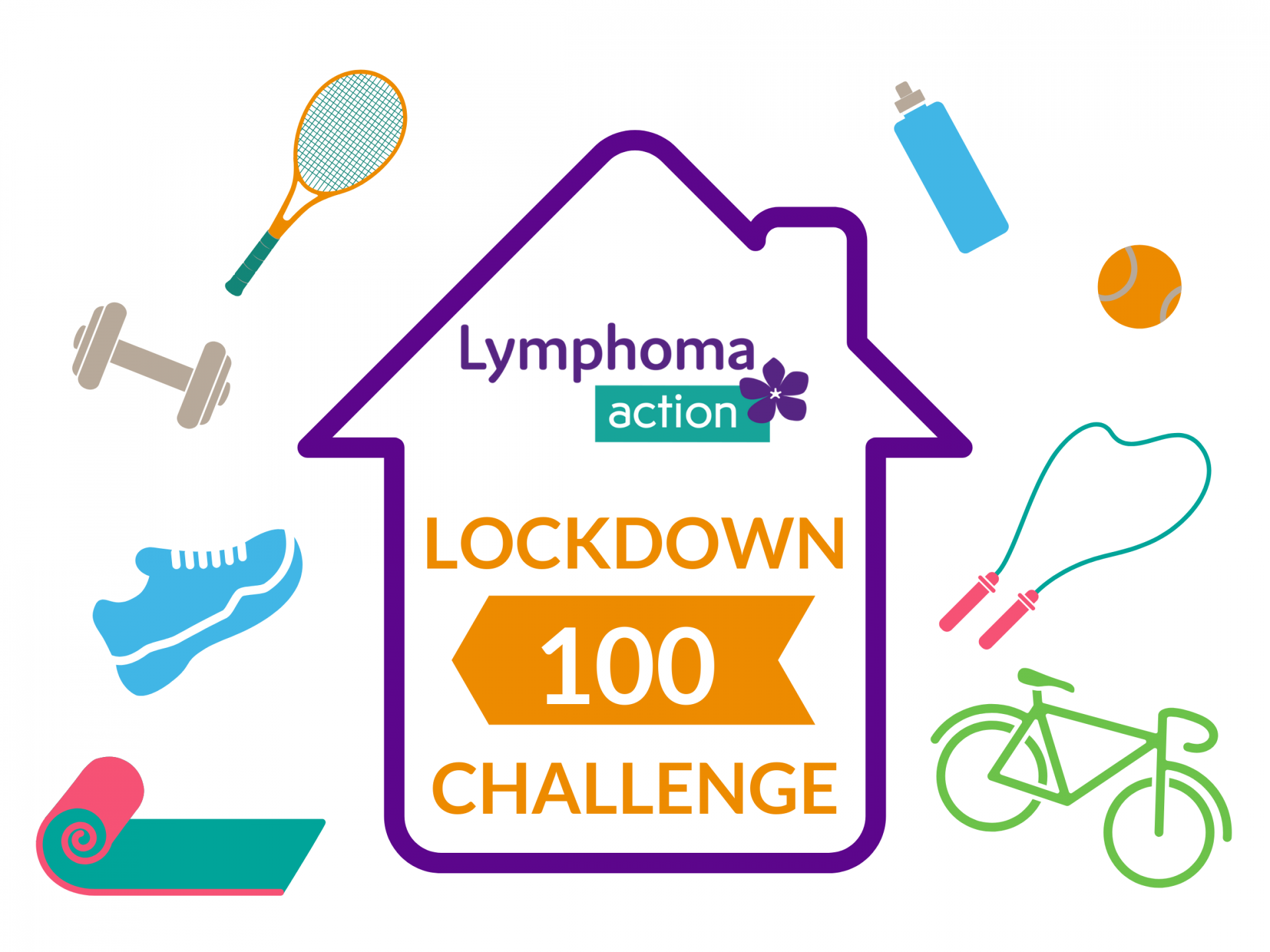Graphic for Lymphoma Action lockdown 100 challenge