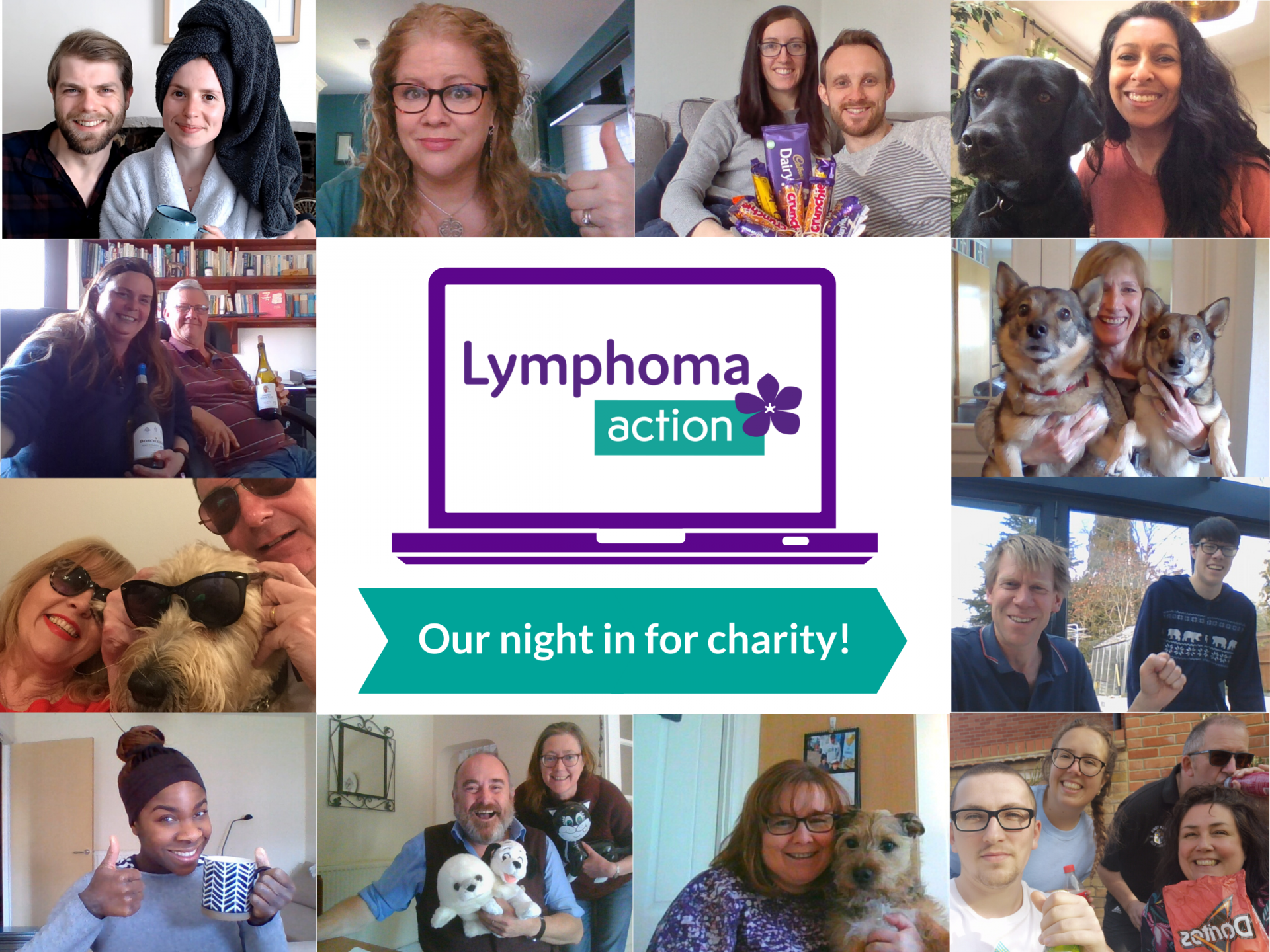 Image for Lymphoma Action's 'Our night in for charity' campaign
