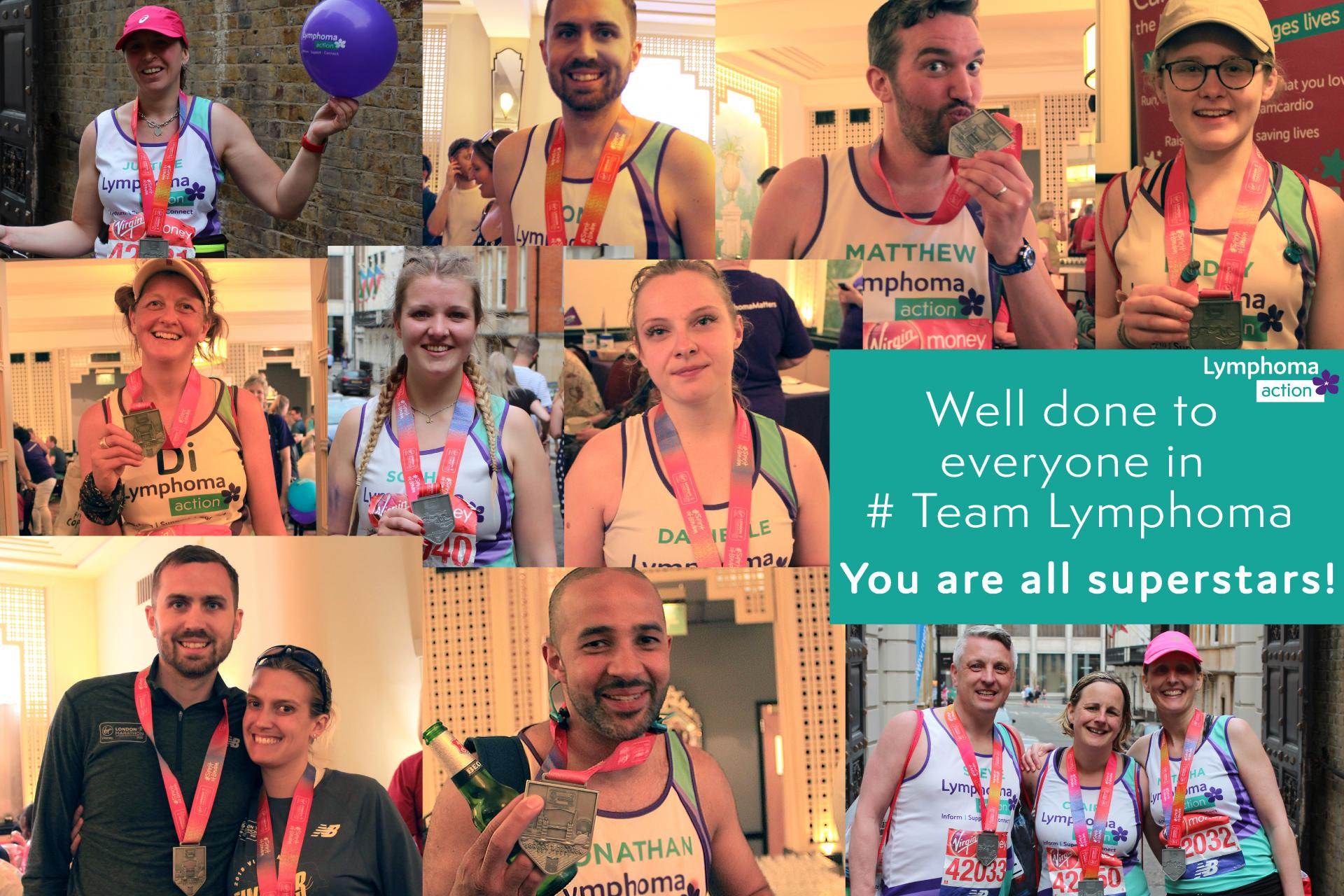 photo montage of runners from the London Marathon 2018