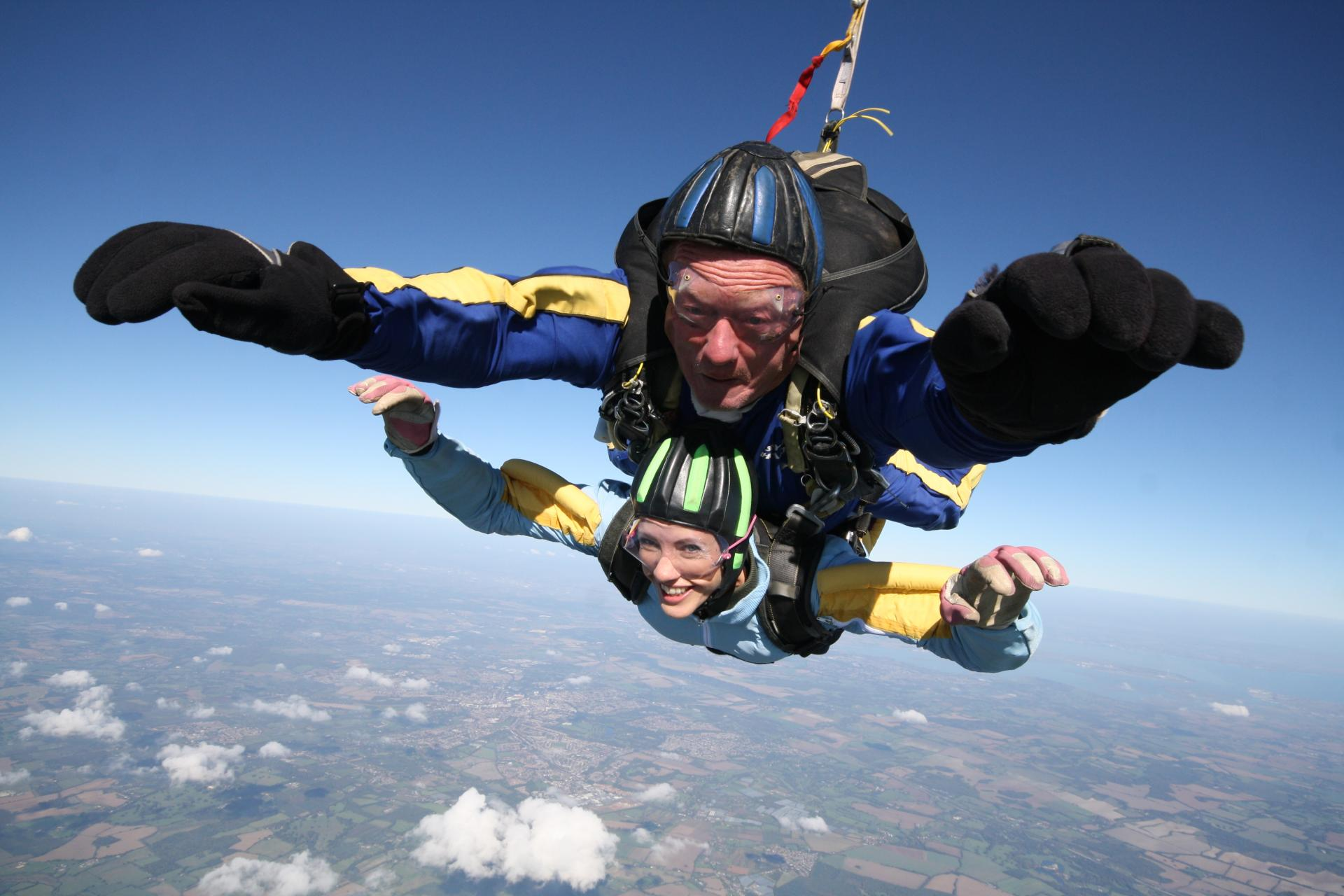 Picture of Zoe while skydiving