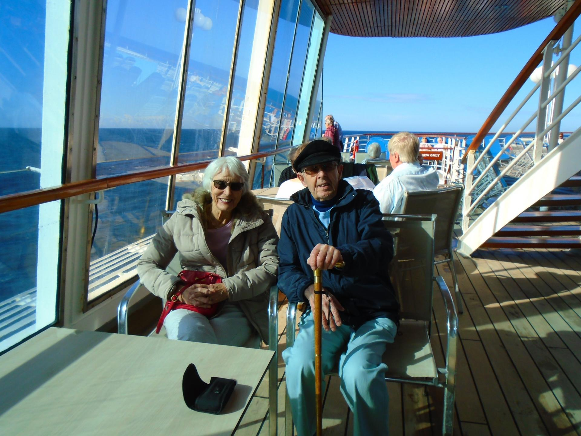 John with his wife Anna cruising