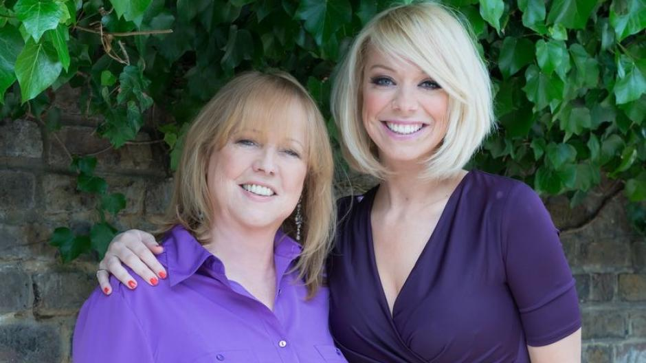 Liz pictured with her mum Jan