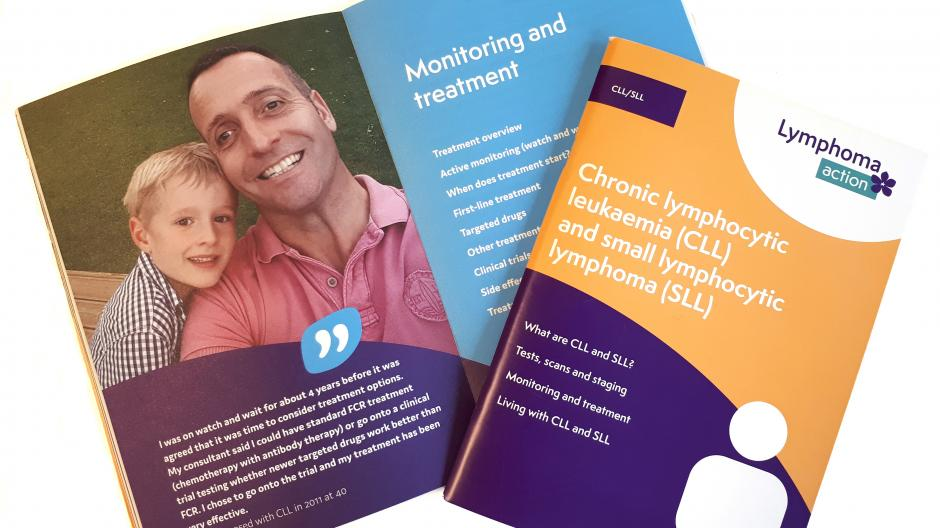Photo of our CLL booklet showing an open chapter heading page