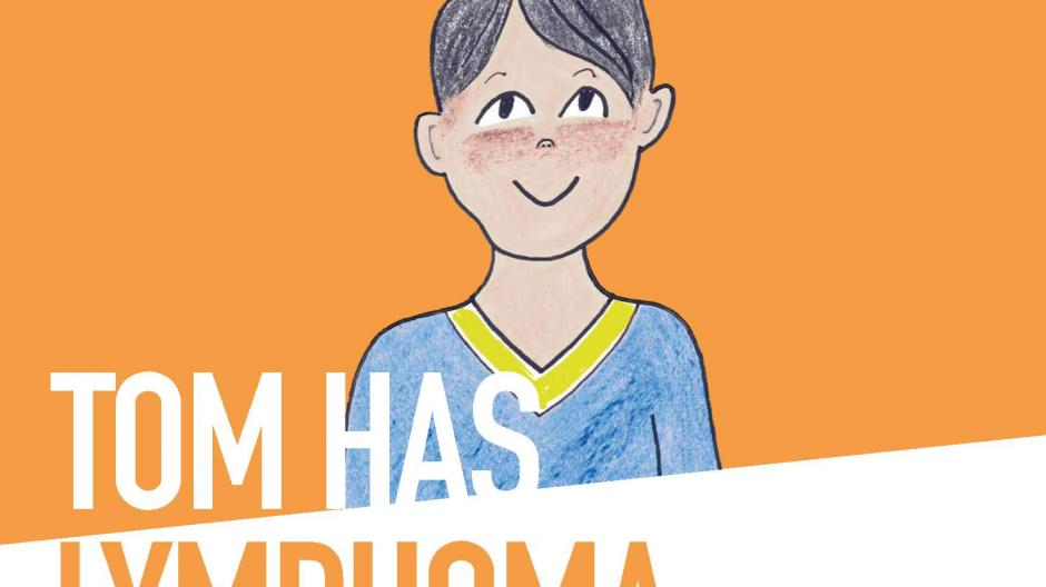 Front cover of Tom has lymphoma storybook