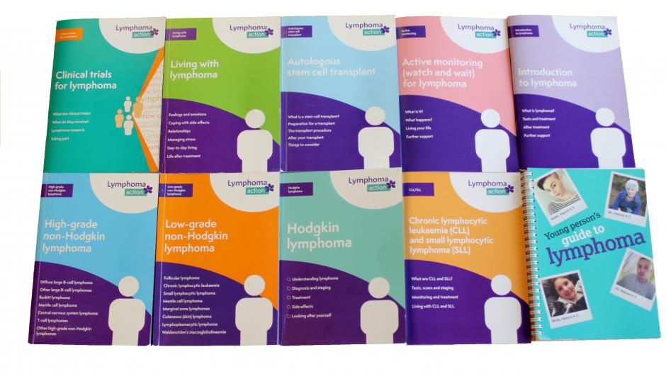 Lymphoma Action A5 booklets
