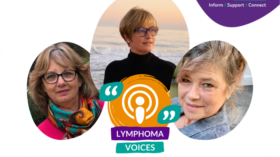 Lymphoma Voices podcast with Emma Forbes and Sarah Standing